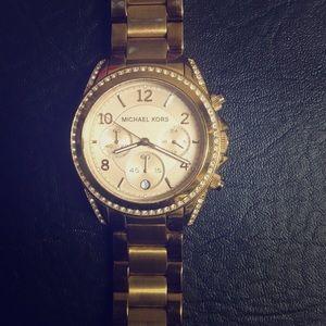Micheal Kors watch rose gold NEW battery